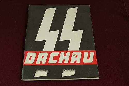 SS Dachau booklet