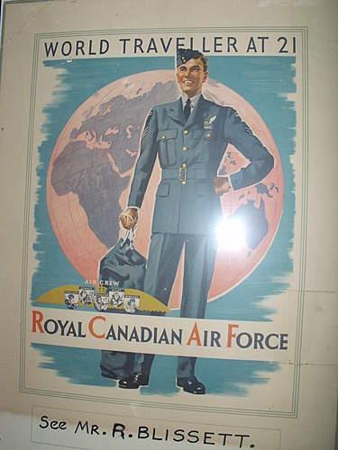 "RCAF ""world traveller at 21"" recruitment poster"