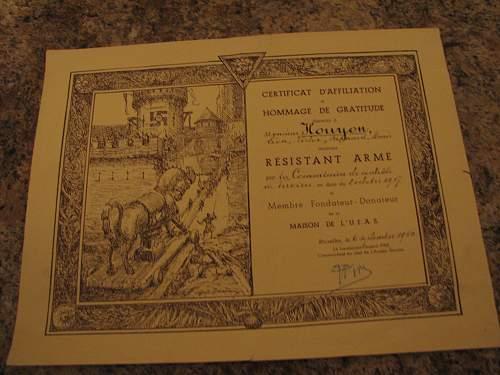Belgian certificate