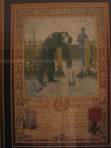 WW1 Belgian Yser and deportee cross certificates