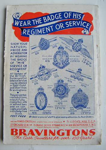 Badges & Emblems of the services 1940 booklet