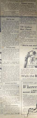 The Great Escape - Stalag Luft 3 contemporary newspaper report