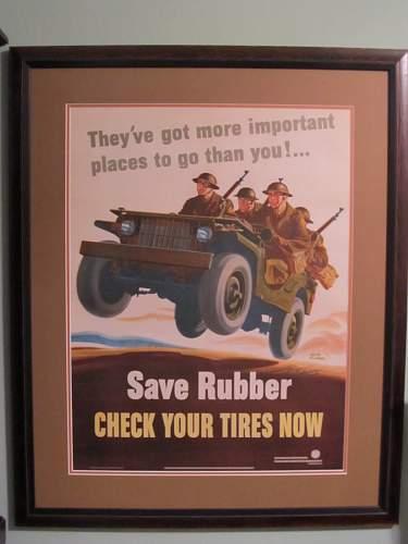 Flagg Poster Back From Restoration