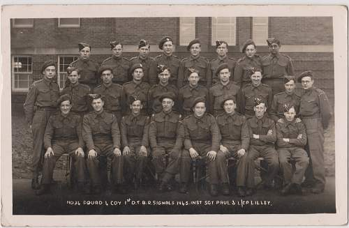 Click image for larger version.  Name:No.34 Squad 4 coy 1st O..T.B.R Signals 1945 m.jpg Views:115 Size:281.7 KB ID:441959