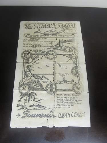 Neat Merchant Marine paper item