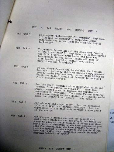 British propaganda leaflet at outbreak of WII