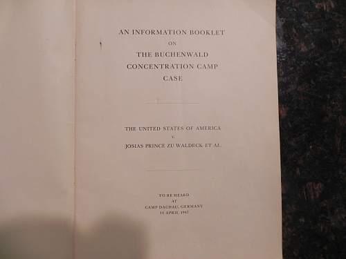 Buchenwald Trial Book...info wanted