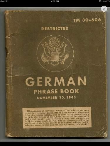 Ww2 us german phrase book