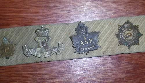 WWI Canadian Hate Belt
