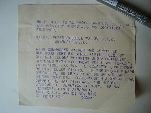 Flight Lieutenant Peter Russell Walker