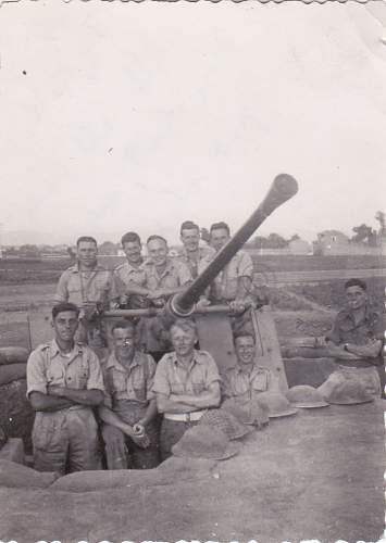Photo Album for a gun commander in 47th LAA Rgt.