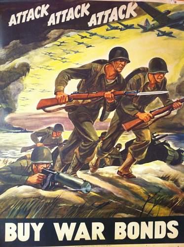 ATTACK ATTACK ATTACK War Bonds Poster