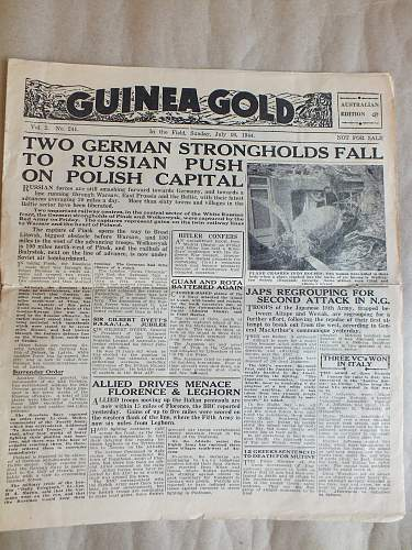 The A.I.F news and Guinea Gold
