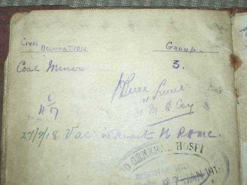 My Great Grandfathers Service Booklet