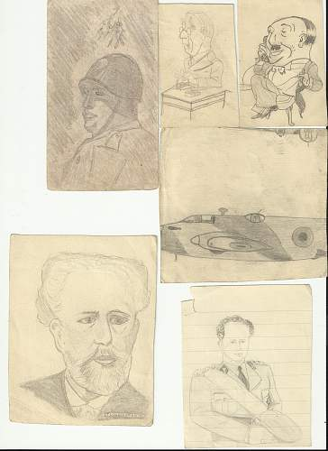 Royal Navy Sailors Drawings and other bits from HMS Shah