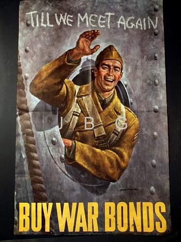 US War Bonds Poster.