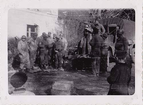 Click image for larger version.  Name:Rouen- enlisted men, PW and local children.jpg Views:39 Size:223.5 KB ID:550352