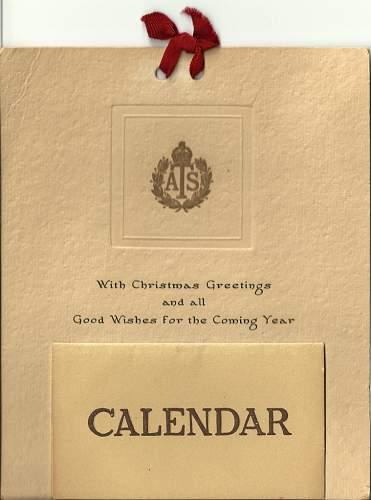 ATS Calendar 1945