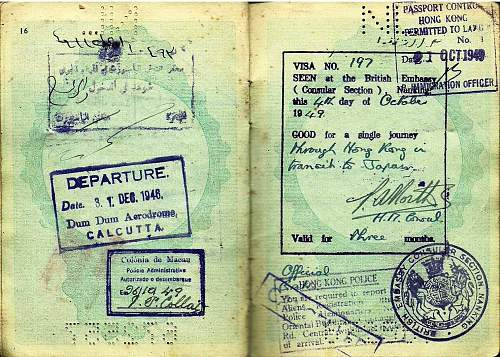hiding in Holland then serving abroad after the war...