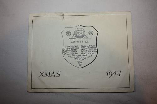 Gruesome British 49th Division Christmas card, 1944