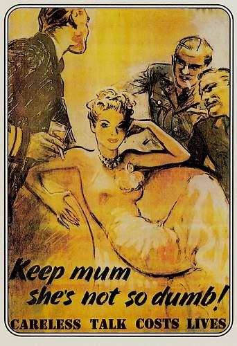 Wartime poster, Tittle Tattle lost the Battle
