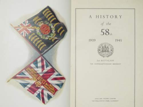 Click image for larger version.  Name:Northants Regt history book..jpg Views:60 Size:125.3 KB ID:61985