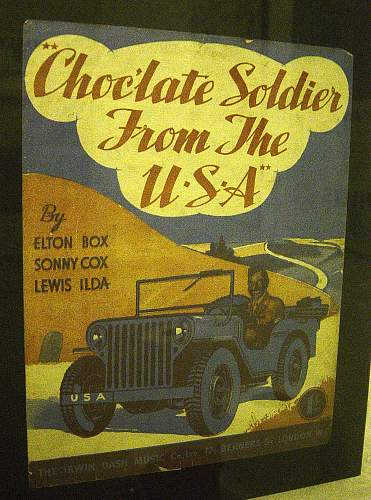 """Sheet music: """"Chocolate Soldier from the USA"""""""