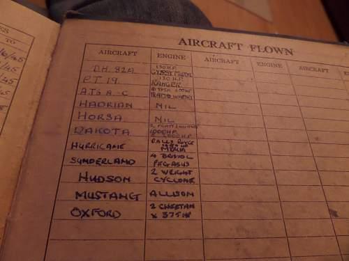 WW2 RAF Log book and medal find