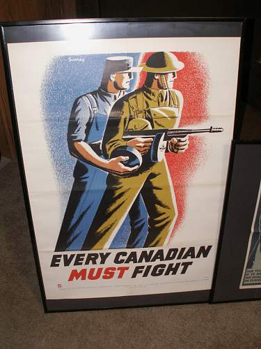 Three Rare Canadian WWII Posters