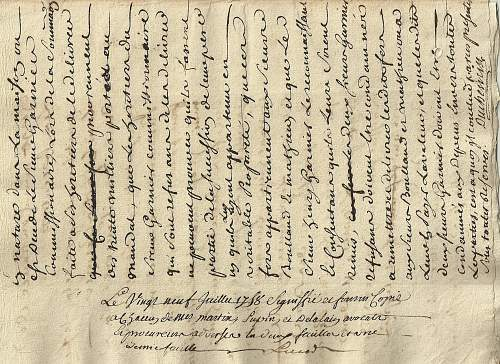 1758 french document  translation help please