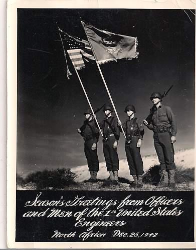 Seasons Greetings 1st US North Africa 1942
