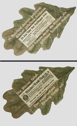 propaganda leaflets WOII