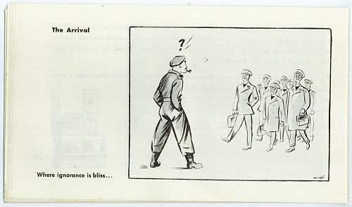 Royal Army Chaplain's Department battle school cartoon