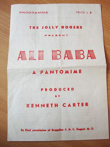 "my latest find... WW2 ""the Joly rogers"" ALI BABA programme"