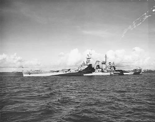 Click image for larger version.  Name:NORTH CAROLINA BB-55 @ ULITHI 1944.jpg Views:3616 Size:106.8 KB ID:717955