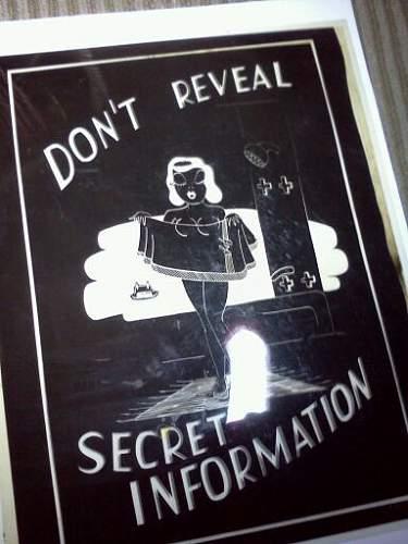 "Unissued SAMPLE WWII ""Don't Talk"" poster film Negatives??"