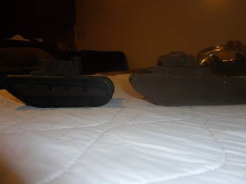 Interesting Trench or Folk Art Tanks