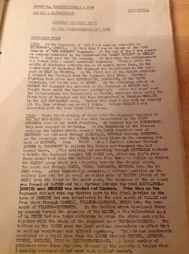 Original documents from wormhaudt and les paridis massacres investigations - HELP