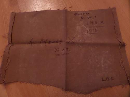 A interesting Xmas card 1916