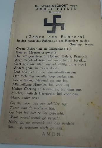 Dutch Prayer to Hitler