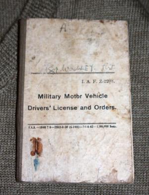 IAF Drivers licence Book