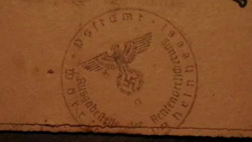 Nazi stamp!