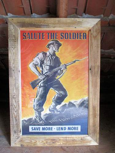 Salute the Soldier war savings poster