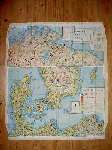 WW2 Silk Escape Map