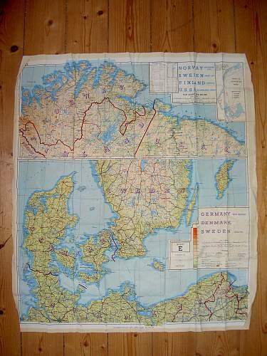WW2 Silk Escape Map