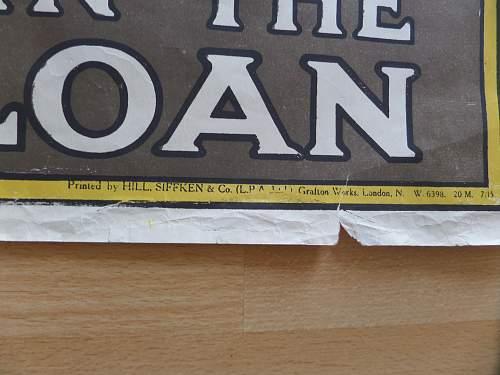 2x original ww1 British Posters fea market find