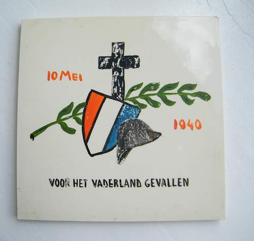 Dutch WWII for the fallen commemorative tile