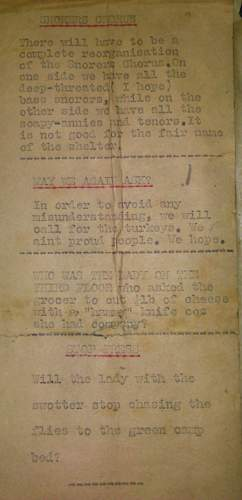 battle of Britain public airraid shelter newsletters