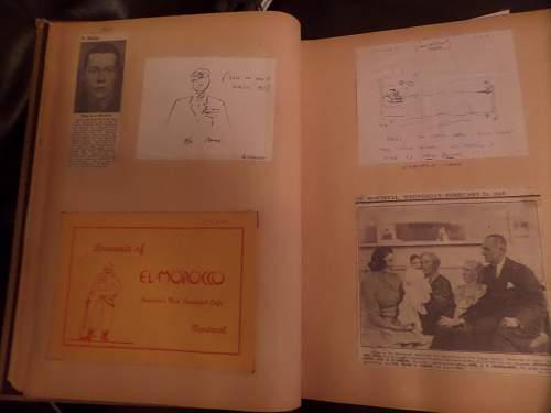 interesting RCAF scrap book feamaket find