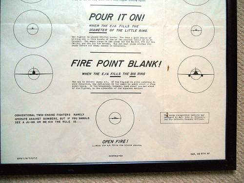 When To Open Fire  ( USAAF Poster )